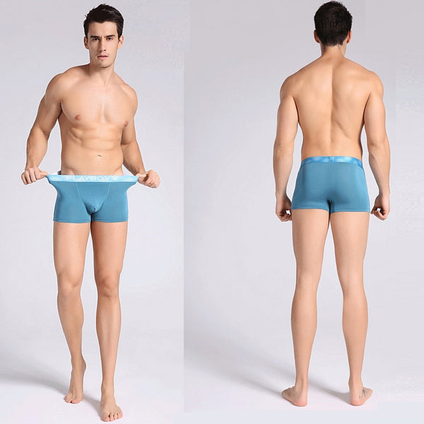 Men 4 Piece PLAYBOY Bamboo Fiber Boxer Brief-MEN-Fashionapolis
