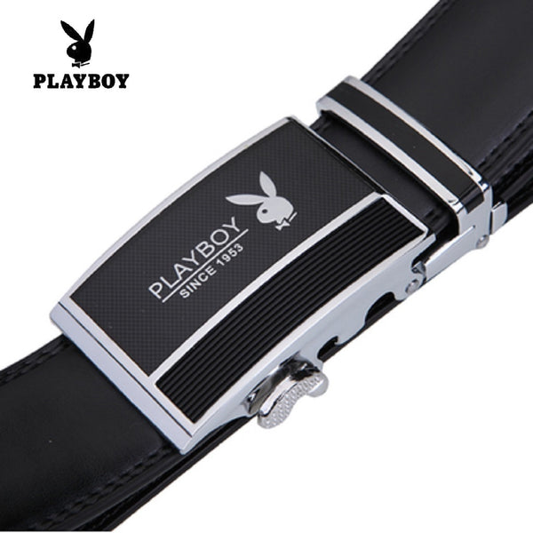 Men PLAYBOY SINCE 1953 Genuine Cowhide Leather Belt-Fashion Accessories-Fashionapolis