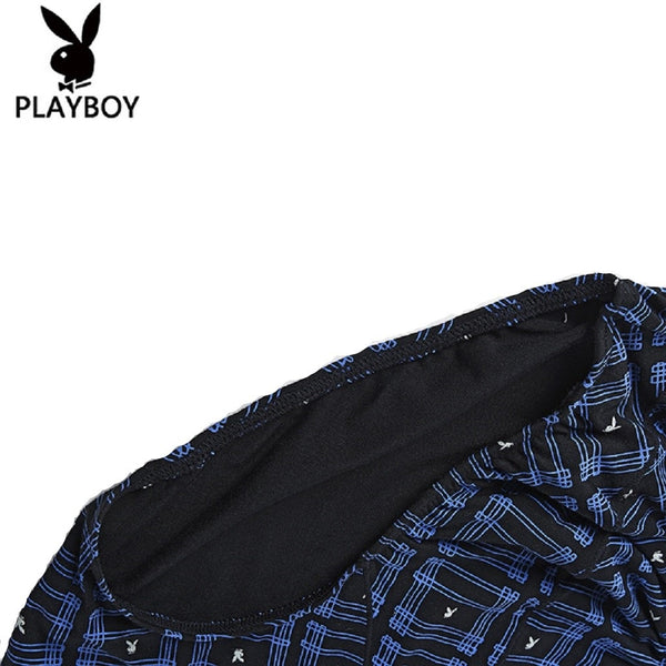Men 2 Piece PLAYBOY Bunny Pattern Underwear Brief-MEN-Fashionapolis