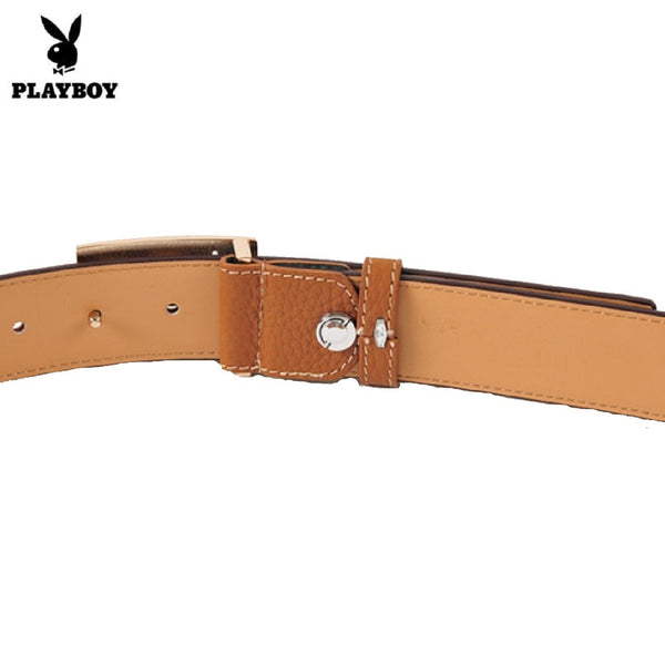 Men PLAYBOY Genuine Cowhide Leather Artisan Belt-Fashion Accessories-Fashionapolis