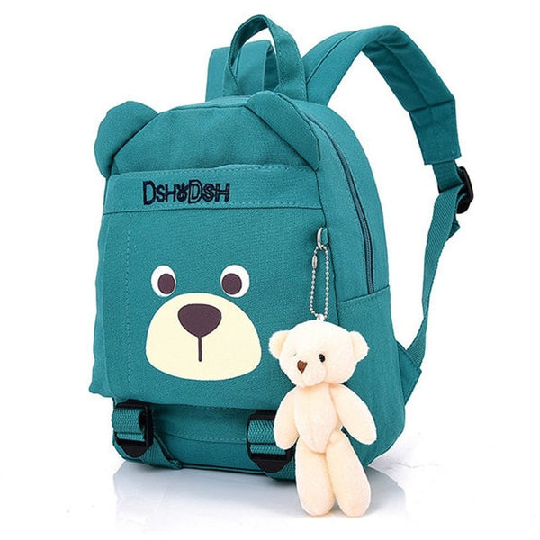 Unisex Preschool Bear Canvas Backpack Bag Large Schoolbag-Bags-Fashionapolis