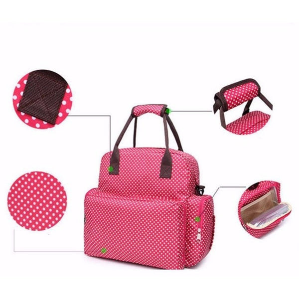 Women Baby Diaper Changing Backpack Tote Bag Handbag-Bags-Fashionapolis
