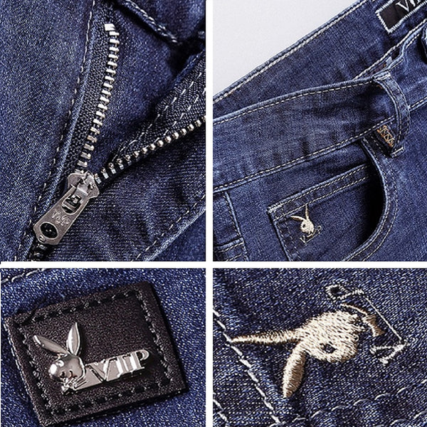 Men PLAYBOY VIP Original Straight Fit Jeans-MEN-Fashionapolis