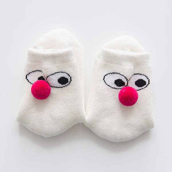 Unisex Boys Girls 5 Pairs Cotton Cute Clown Socks-Kids & Babies-Fashionapolis