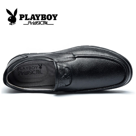 Men PLAYBOY PHYSICAL Genuine Cowhide Business Shoes-Shoes-Fashionapolis