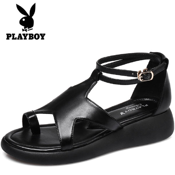 Women PLAYBOY BUNNY Star Toe Ring Sandals-Shoes-Fashionapolis