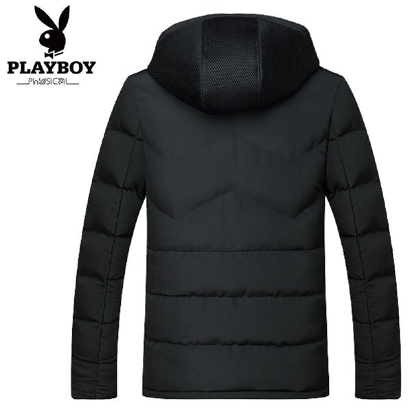 Men PLAYBOY PHYSICAL Mesh Hood Padded Jacket-MEN-Fashionapolis
