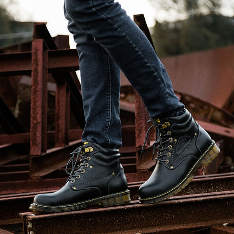 Men PLAYBOY PHYSICAL Outdoor British Style Combat Boots Fashionapolis