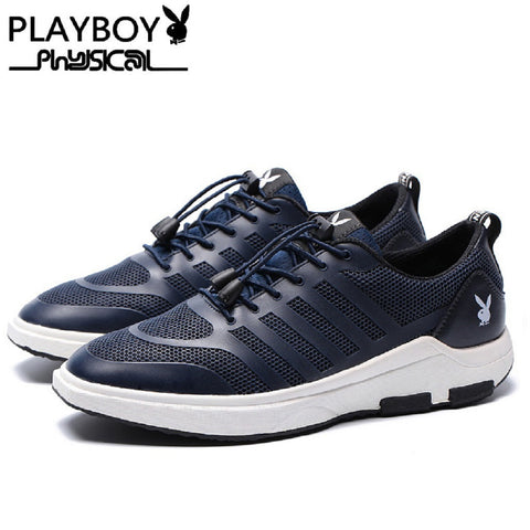 Men PLAYBOY PHYSICAL Lock Laces Mesh Shoes Sneakers Fashionapolis