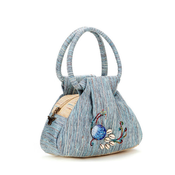 Women Canvas Peacock Fashion Handbag-Bags-Fashionapolis