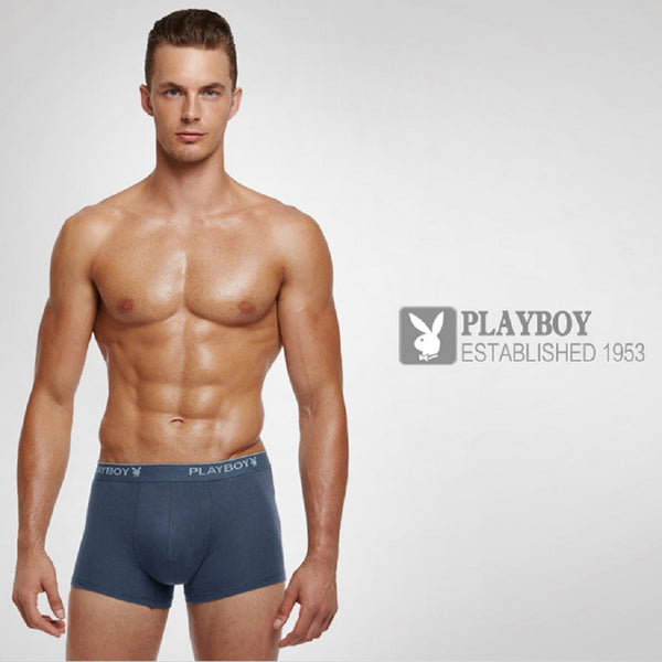 Men 4 Piece PLAYBOY Minimalist Boxer Brief-MEN-Fashionapolis