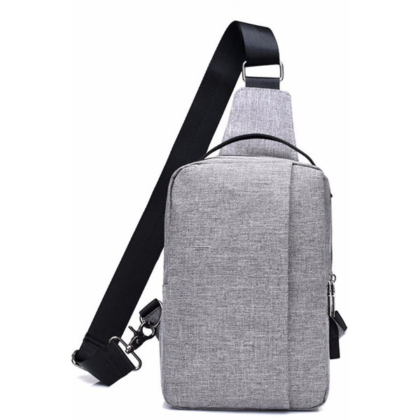 Unisex Waterproof Oxford USB Chest Bag-Bags-Fashionapolis