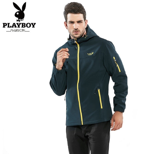 Men PLAYBOY PHYSICAL Cashmere Hooded Jacket-MEN-Fashionapolis