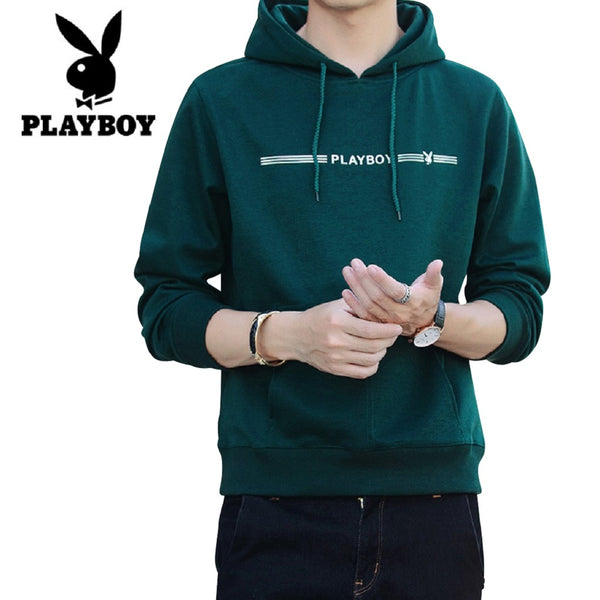 Men PLAYBOY Street Style Pullover Hoodie-MEN-Fashionapolis
