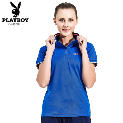 Women PLAYBOY PHYSICAL Couple Polo Tee