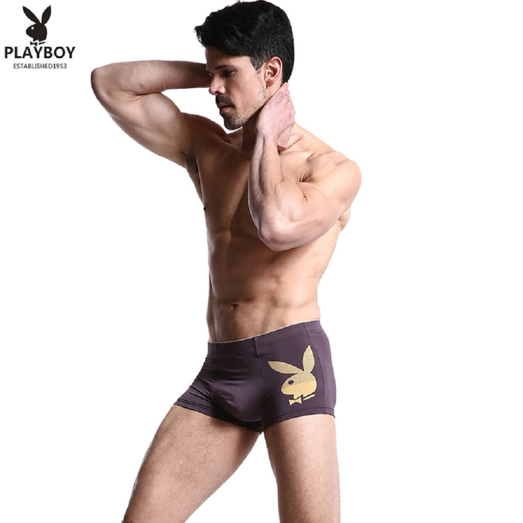 Men 4 Piece PLAYBOY Bunny Boxer Brief-MEN-Fashionapolis