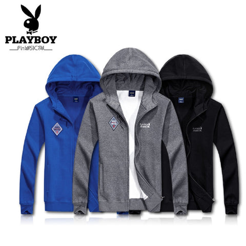 Men PLAYBOY PHYSICAL 1953 WORK IT OUT Zip Up Hoodie