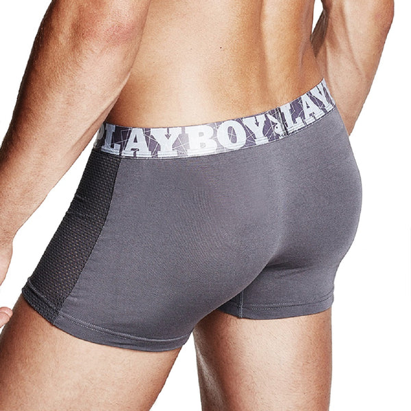 Men 4 Piece PLAYBOY Ice Silk Mesh Boxer Brief-MEN-Fashionapolis