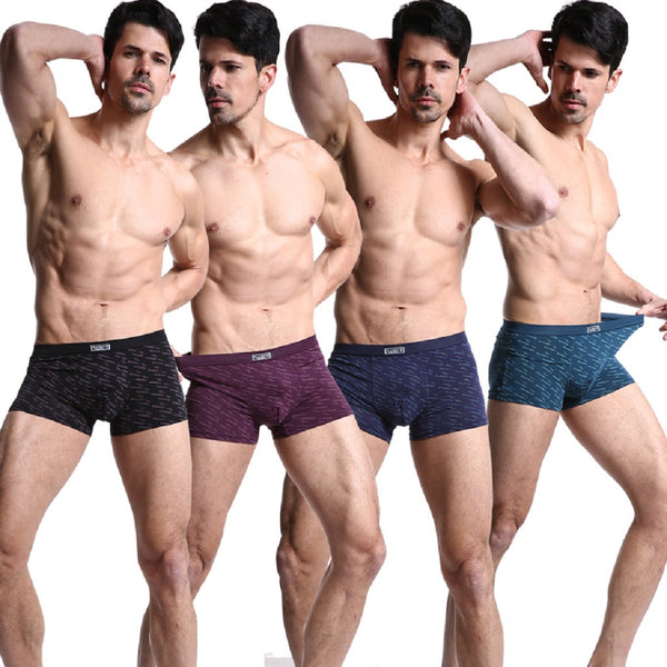 Men 4 Piece PLAYBOY Stripe Boxer Brief-MEN-Fashionapolis