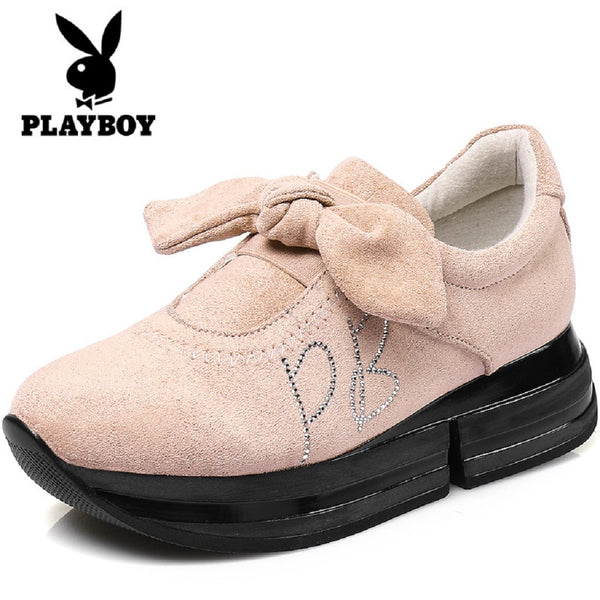 Women PLAYBOY BUNNY Bow Shoes-Shoes-Fashionapolis