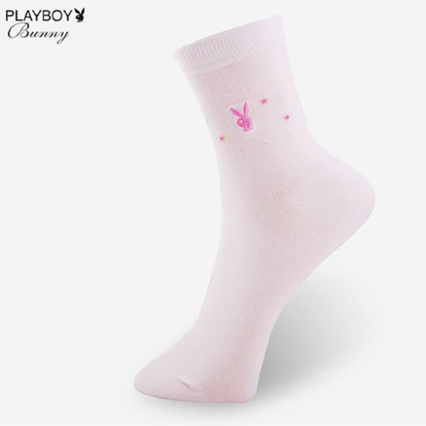 Women 5 Pairs PLAYBOY BUNNY Cute Bunny Dotted Socks-Fashion Accessories-Fashionapolis