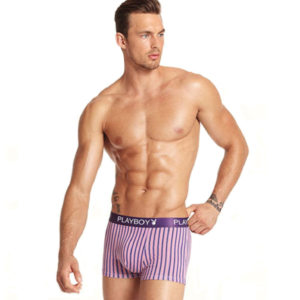 Men 4 Piece PLAYBOY Colorful Stripe Boxer Brief-MEN-Fashionapolis