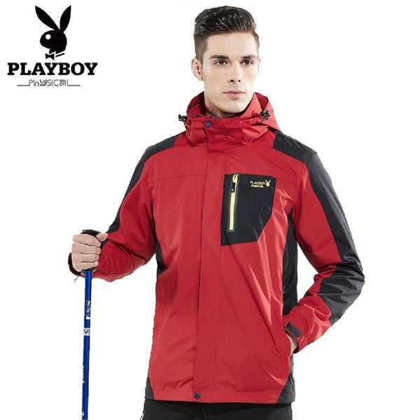 Men PLAYBOY PHYSICAL Couple Mountaineering 2 Piece Jacket-MEN-Fashionapolis