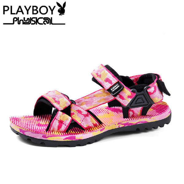 Women PLAYBOY PHYSICAL Outdoor Couple Beach Sandals-Shoes-Fashionapolis