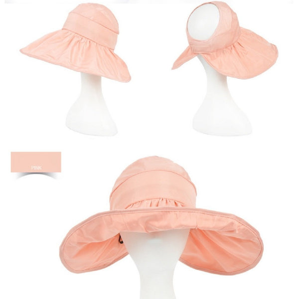 Women UV Protection Foldable Summer Open Top Hat-Fashion Accessories-Fashionapolis