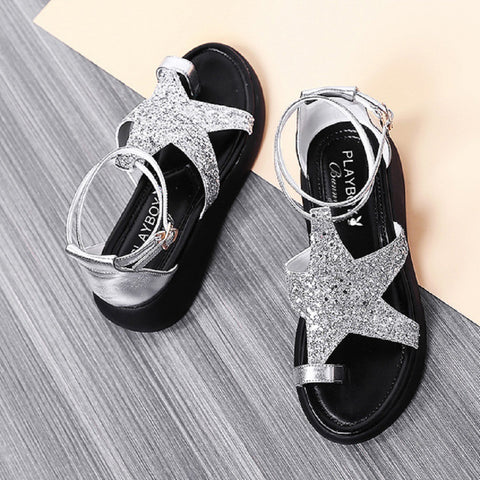 Women PLAYBOY BUNNY Faux Leather Star Toe Ring Sandals Fashionapolis