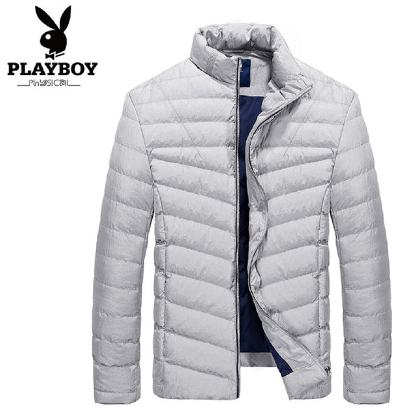 Men PLAYBOY PHYSICAL Ultra Light Down Jacket-MEN-Fashionapolis
