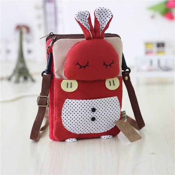 Women Girl Canvas Cute Animal Crossbody Bag-Bags-Fashionapolis