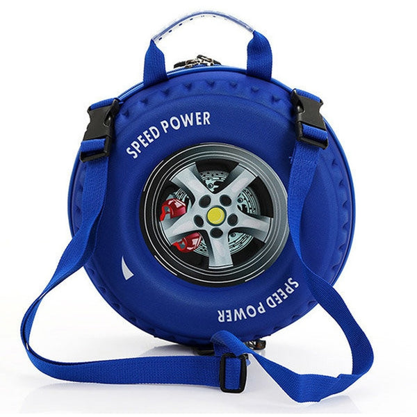 Kids Boy Kindergarten Tyre Shoulder Backpack Bag Schoolbag-Bags-Fashionapolis
