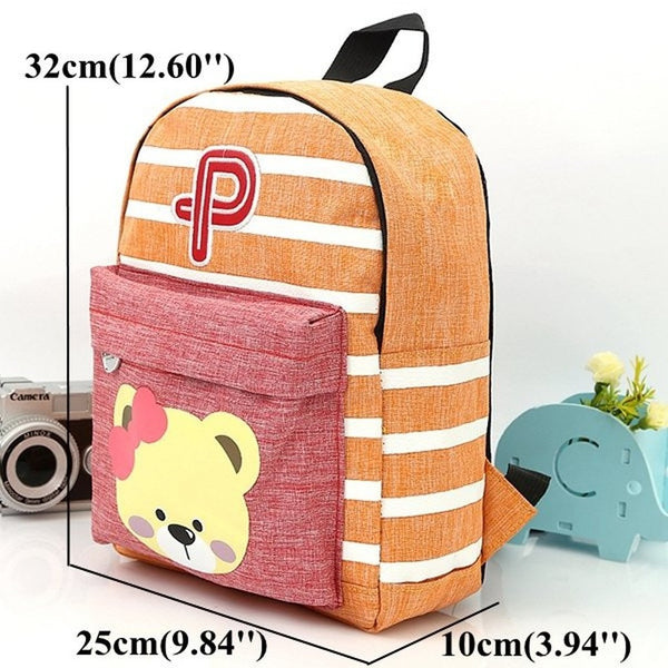 Unisex Children Cute Bear Backpack Schoolbag-Bags-Fashionapolis