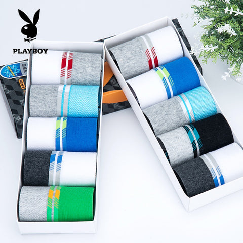 Men 5 Pairs PLAYBOY Performance Ankle Socks Fashionapolis Perfect for Gifts