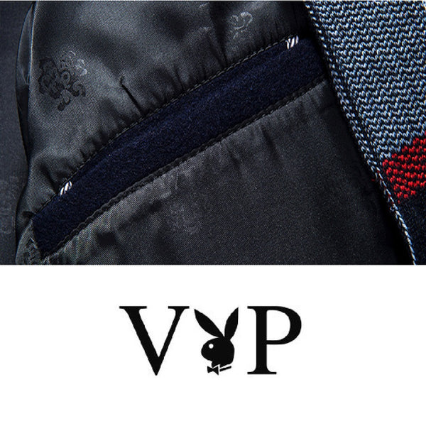 Men PLAYBOY VIP Wool Coat with Scarf-MEN-Fashionapolis