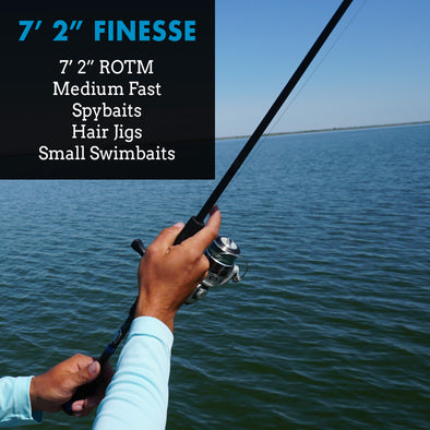 "7'2"" Medium Fast - Finesse Spybait Hair-Jig Rod"