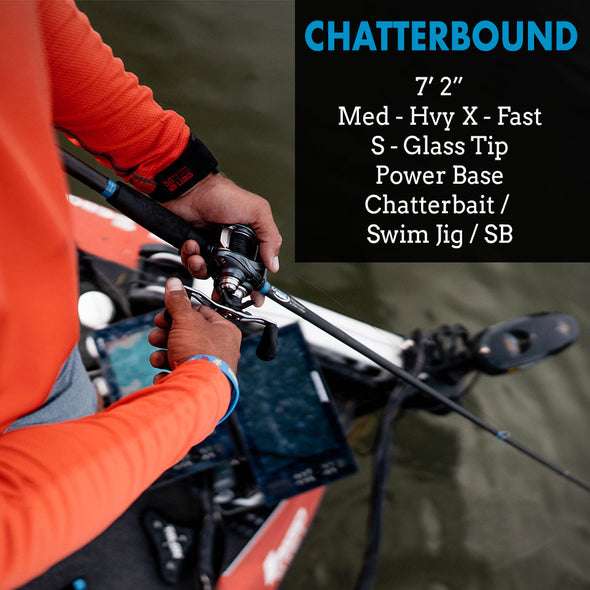 "Alpha Angler ChatterBound - 7'2"" Medium-Heavy S-Glass Composite"
