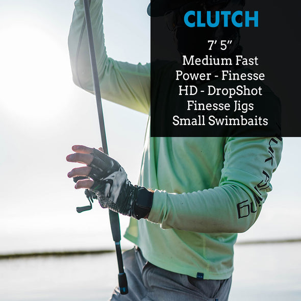 "Clutch - 7'5"" Medium Fast - Power Finesse Baitcasting Rod"