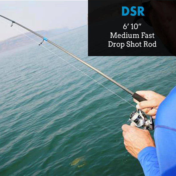 "DSR - 6'10"" Medium Fast - Bass Fishing Drop Shot Rod"
