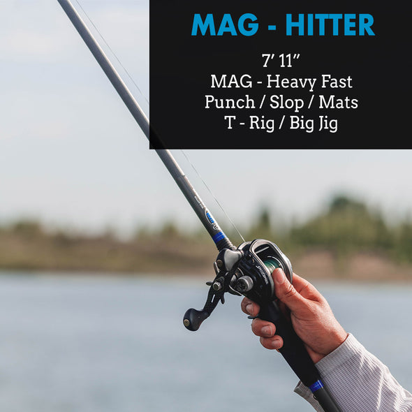 "Mag-Hitter - 7'11"" Mag-Heavy Flipping and Punching Bass Rod"