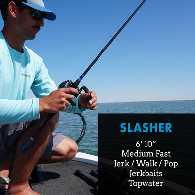 "Slasher - 6'10"" Medium Fast - Jerkbait Topwater Rod"
