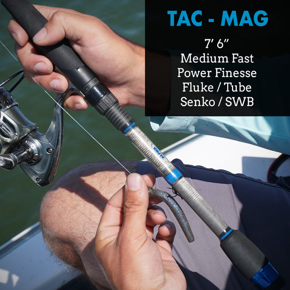 "TAC-Mag - 7'6"" Medium Fast - Fluke and Tube Finesse Rod"