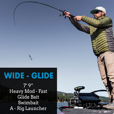 "Wide Glide - 7'9"" HF - Glidebait, Swimbait, A-Rig Bass Rod"