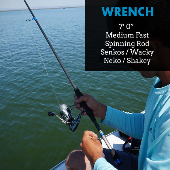 Wrench - 7' Medium - Bass Spinning Skipping Senko Rod