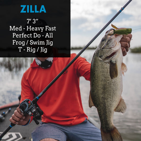 "Zilla - 7'3"" MH Fast - Best Frog Rod, Swim Jig Fishing Rod"