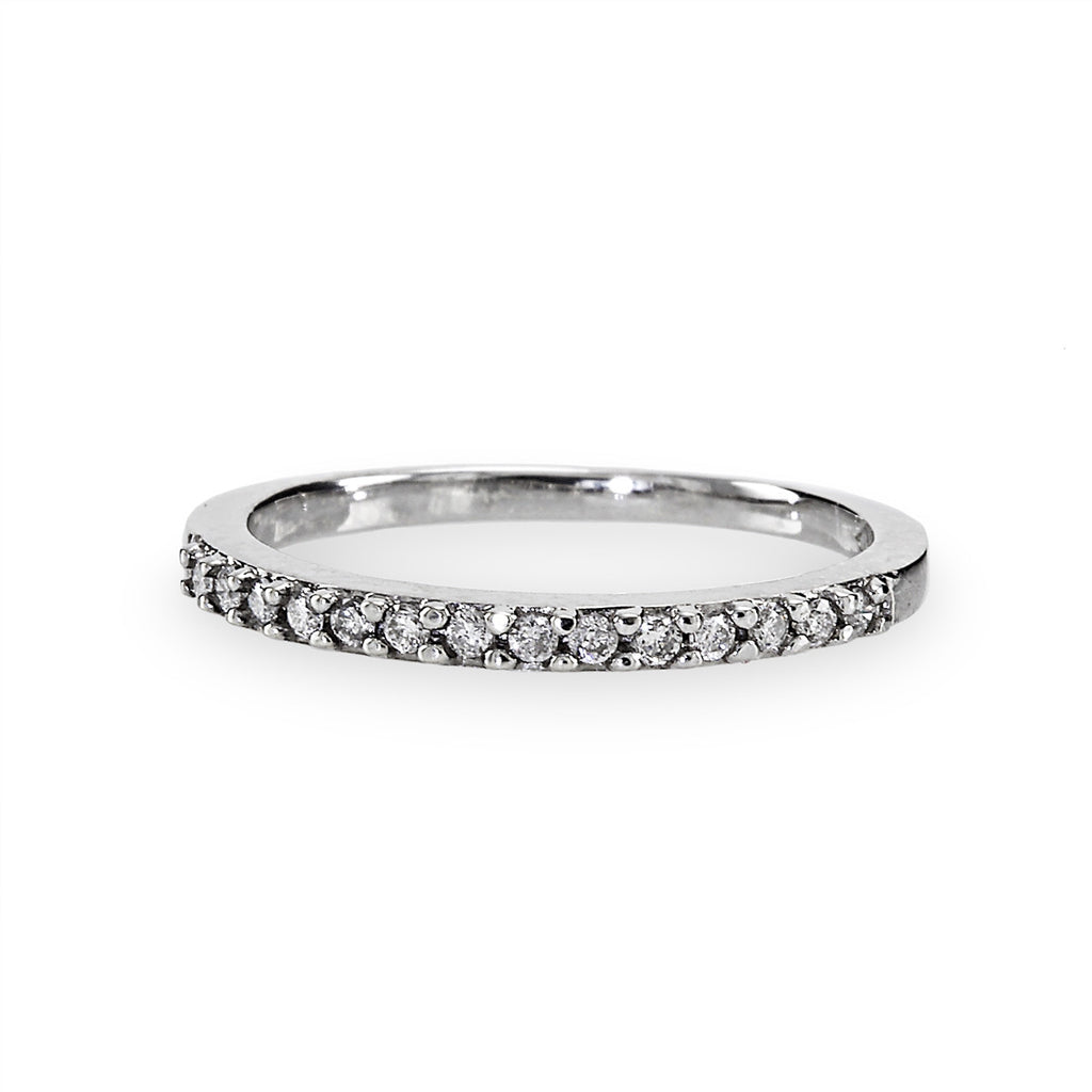 Diamond Band 14K White Gold