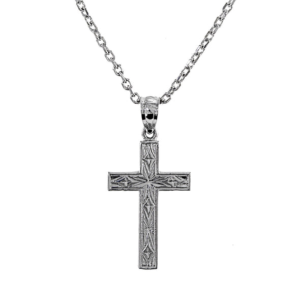 Cross Charm Necklace 14K Gold