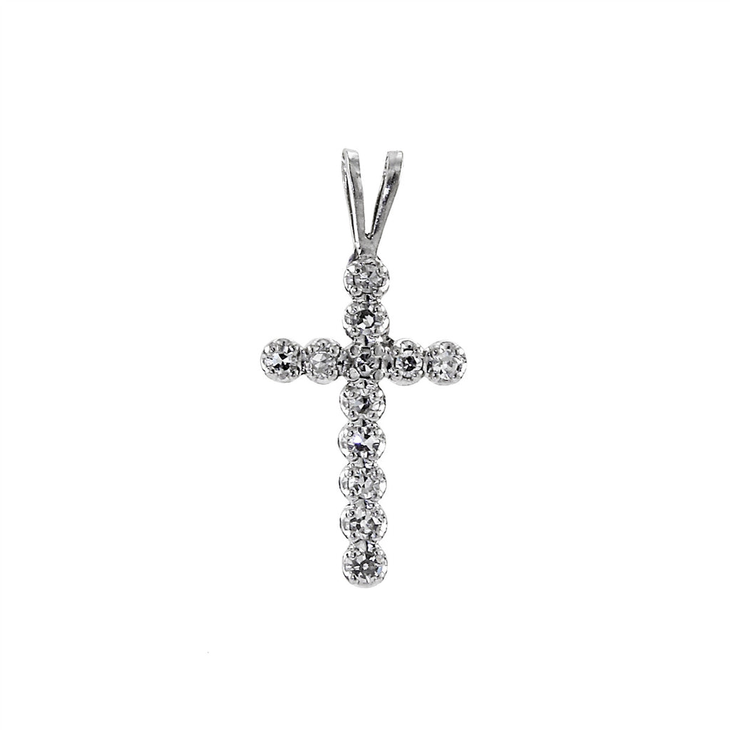 Diamond Cross Necklace 14K