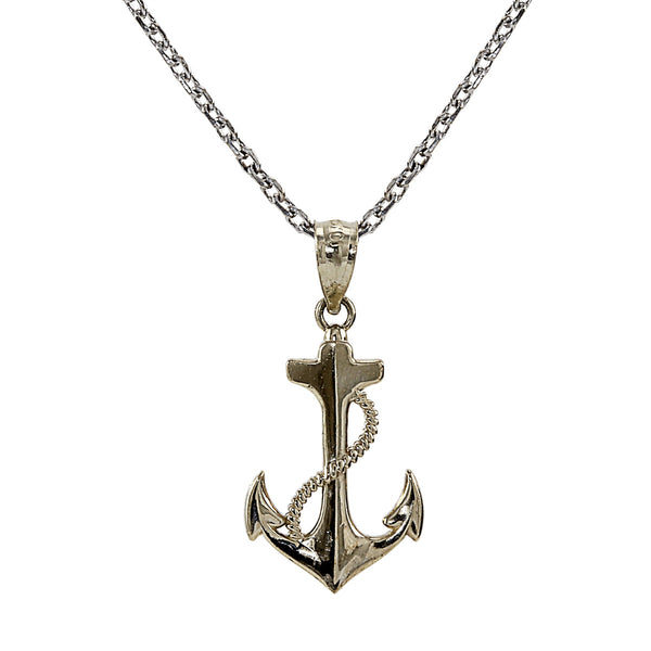 Anchor Charm Necklace 14K Gold